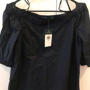Ralph Lauren Navy off the shoulder blouse